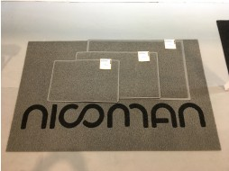 NICOMAN Spaghetti-coiled PVC Vinyl Loop Personalised Door Mats